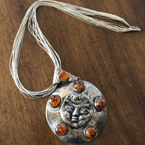 Sterling Zuni Navajo Necklace